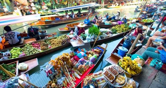 kinh nghiệm đi chợ nổi thái lan