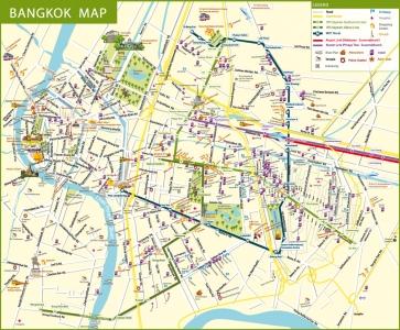 Bản đồ du lịch BangKok, Thái Lan
