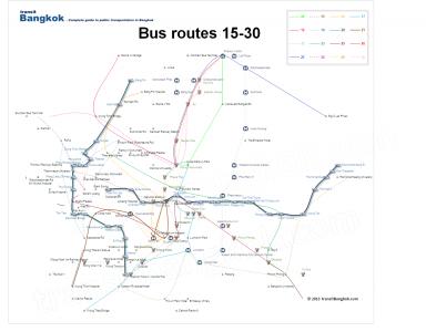 Bản đồ xe bus Bangkok