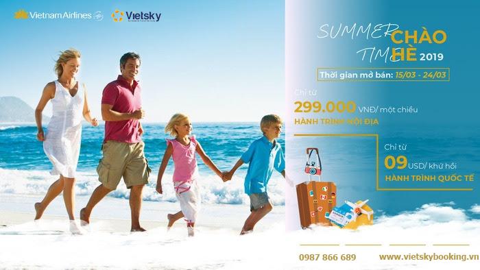 Khuyến mại chào hè 2020 – chương trình được mong chờ nhất trong năm của Vietnam Airlines